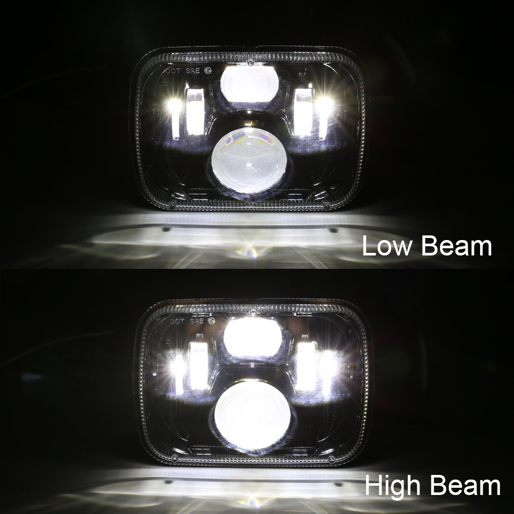 5x7 square led headlight hi / lo beam