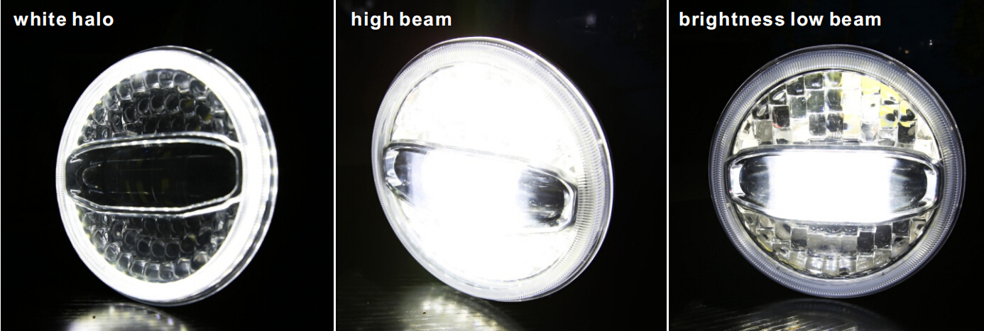 7 inch Halo Lights High Low Beam