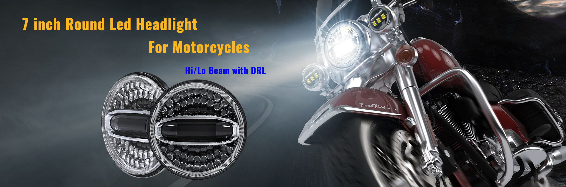 7 inch Halo Led Headlight for Motorcycles