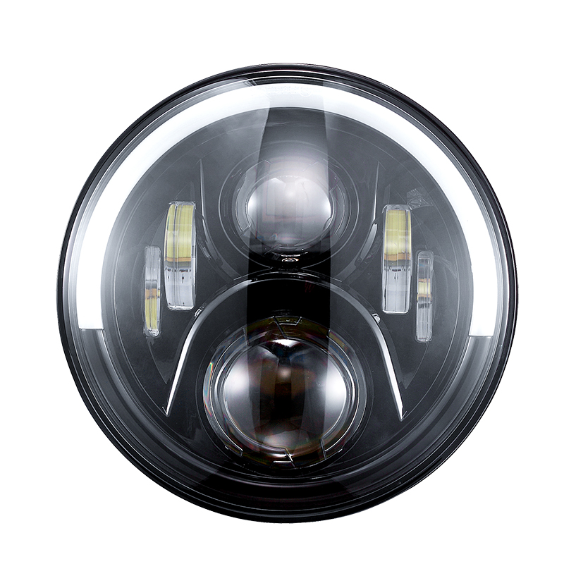 7 inch Jeep JK Led Headlight dengan Half Halo