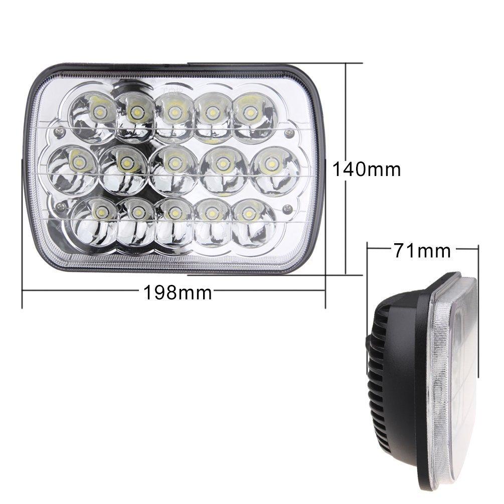 Lampu Depan Led 5x7 Persegi Panjang