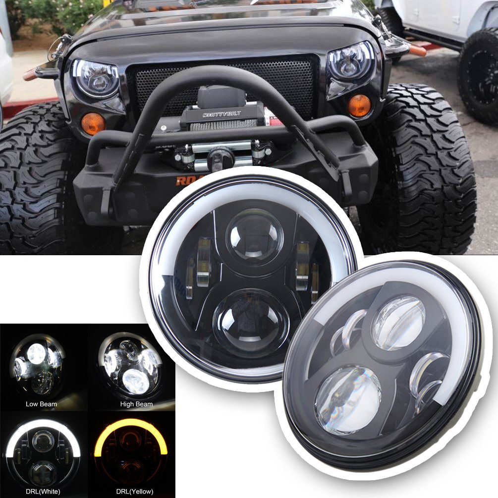 7 inch Jeep Pertunjukan Lampu Led JK