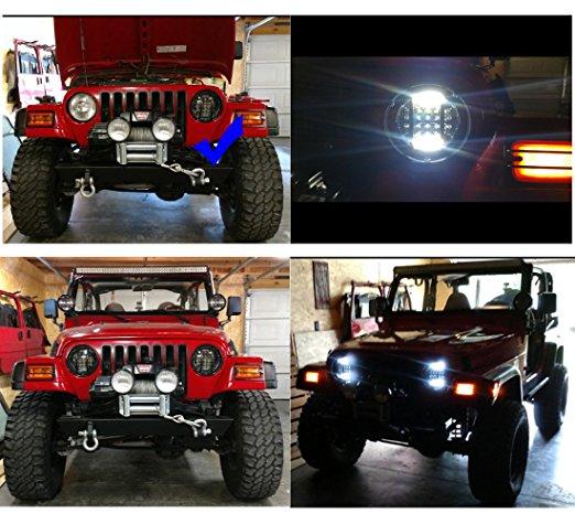 Jeep Wrangler Lampu Depan Menunjukkan