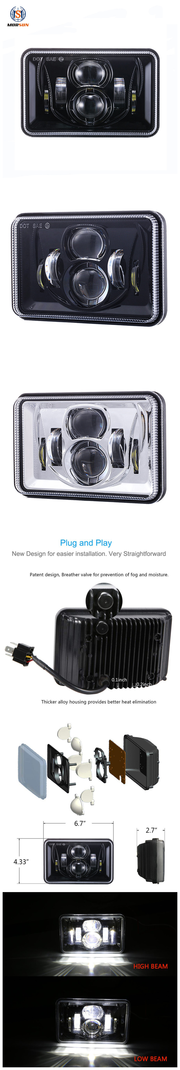 4x6 Led Headlights