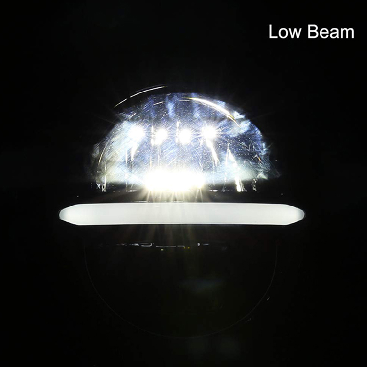7 inch round led headlights low beam
