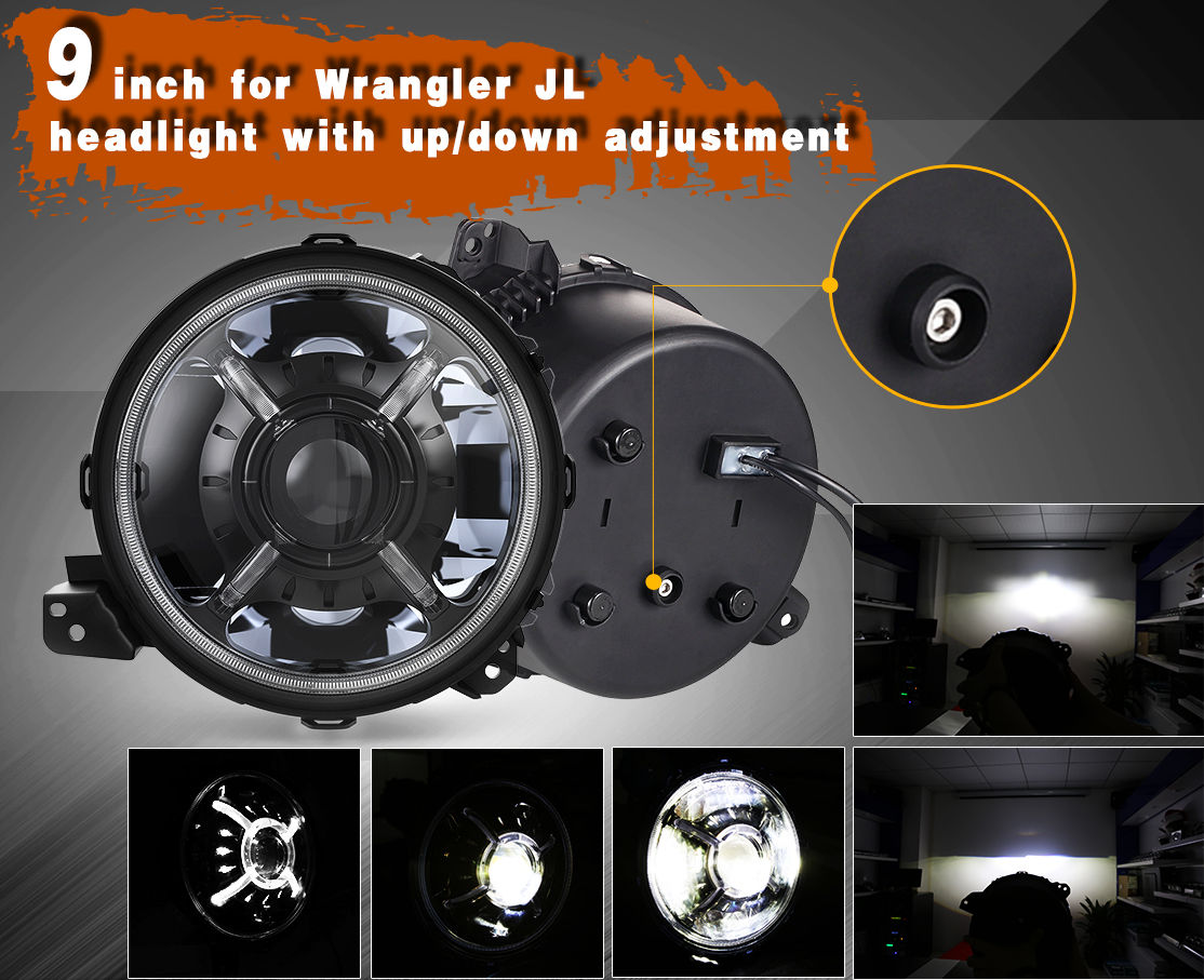 9 inch Jeep Wrangler Led Headlights