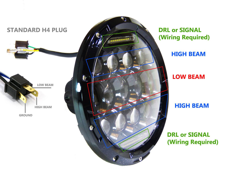 Jeep Jk Led Headlight Wiring from www.morsunled.com