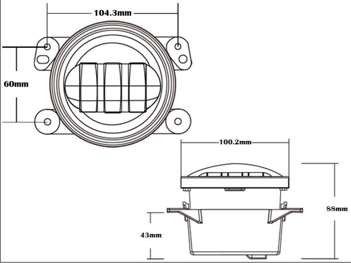 auto lighting system 4 inch led fog lights for jeep jk 4 u0026 39  u0026 39  fog lamp for dodge toyota land cruiser