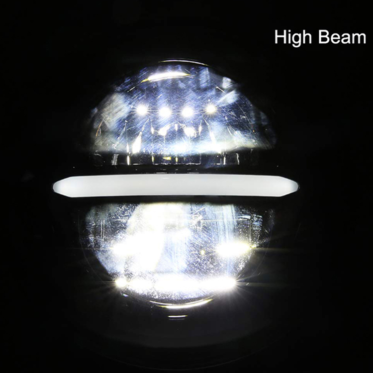 7 inch round led headlights drl