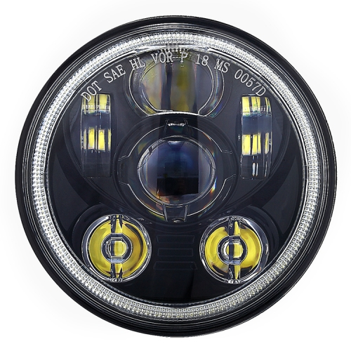"Round 5.75 ""Led Halo Headlight 12v 24v Sealed Beam 5.75 Inch Lampu Harley"