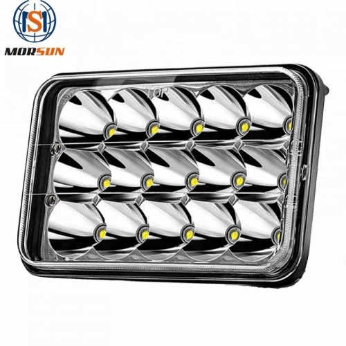 2019 new led truck light 4x6 inch motorcycle headlight for Peterbilt/Feightliner fld