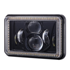 led headlight 4x6 inch Truck headlamp with Angel eyes ring for kenworth