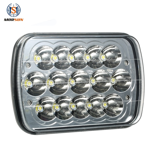 para Jeep Wrangler YJ accessories 5x7'' rectangular headlight for jeep cherokee xj h4 led lights