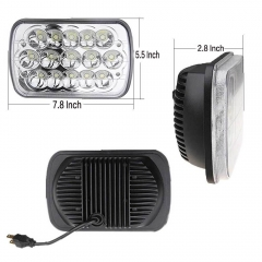 Untuk Jeep Wrangler Aksesoris YJ 5x7 '' untuk lampu persegi panjang jeep lampu led cherokee xj h4