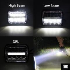 Lampu depan persegi 5x7 '' inci untuk Jeep Aksesoris mobil sistem pencahayaan otomatis YJ Cherokee XJ