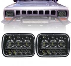 kwa Jeep YJ cherokee xj 5x7 inchi taa 5800lm kwa taa ya Ford Super Duty 7x6 iliyoongozwa