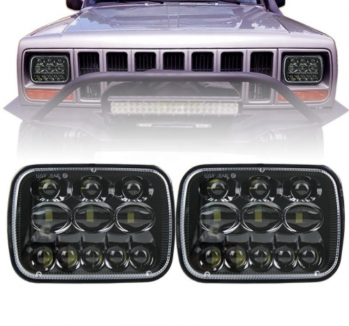 para Jeep YJ cherokee xj 5x7 inch headlamp 5800lm para sa Ford Super Duty 7x6 na humantong headlight