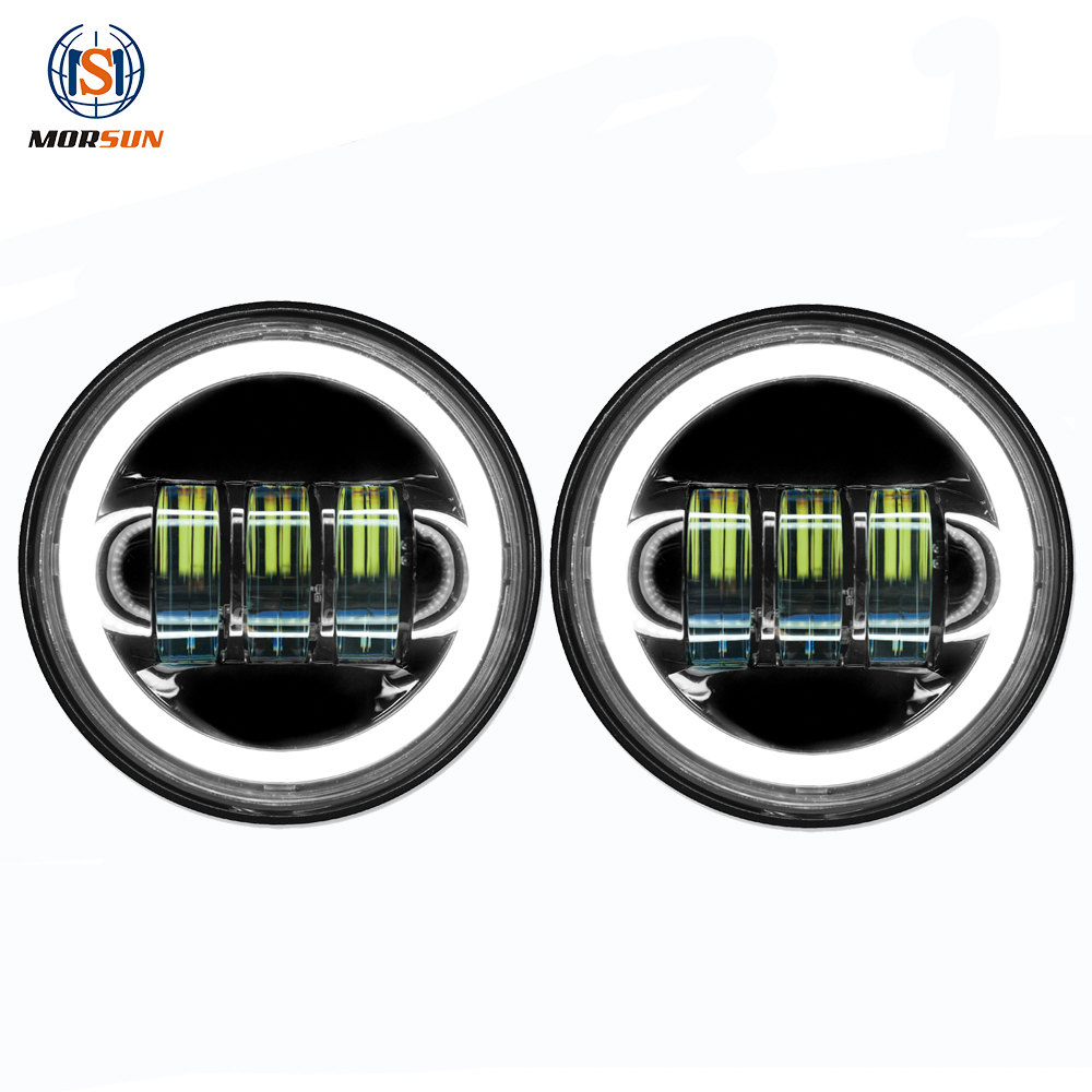Fog lamp for Harleys-Davidsons 4.5'' motorcycle led halo DRL fog light for daymakers Street Glide