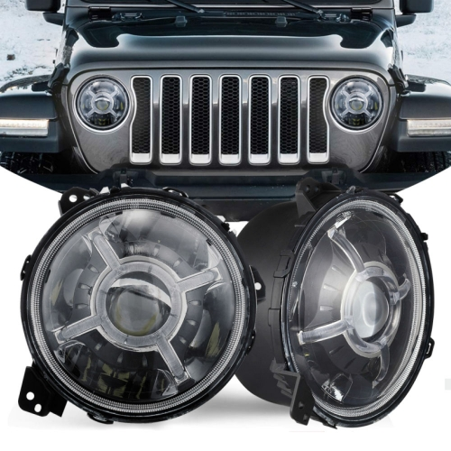 Newest Design 9 inch 2018 Jeep Wrangler JL LED Headlights DOT SAE Jeep JL Led Headlights 2018 2019