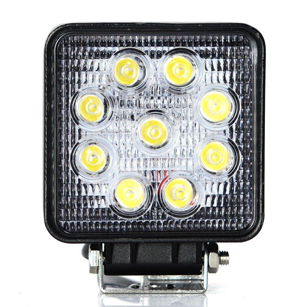 Lampe de travail LED carrée 27W pour voiture / camion