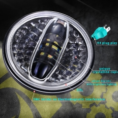 New 7 Inch Led Projector Harley Davidson Headlight 108W DOT E9 Led Motorcycle Headlight for Harley
