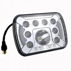 Aksesoris mobil 5x7 square led headlight untuk jeep yj headlamp persegi panjang untuk Cherokee xj