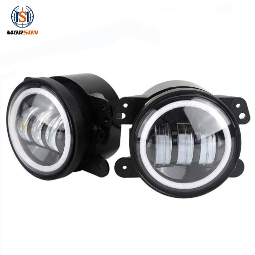 For Jeep JK TJ LJ 4'' halo fog lamp for grand cherokee auto parts led fog lights for Dodge car accessories