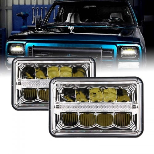 led lights for peterbilt/chevy 4x6 inch led headlights for truck vehicles Auto parts