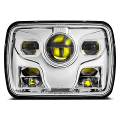 Morsun 5x7 Square LED Headlight untuk Jeep Wrangler Cherokee XJ