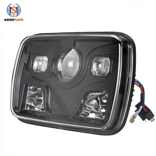 Morsun 5x7 Square LED Headlight for Jeep Wrangler Cherokee XJ