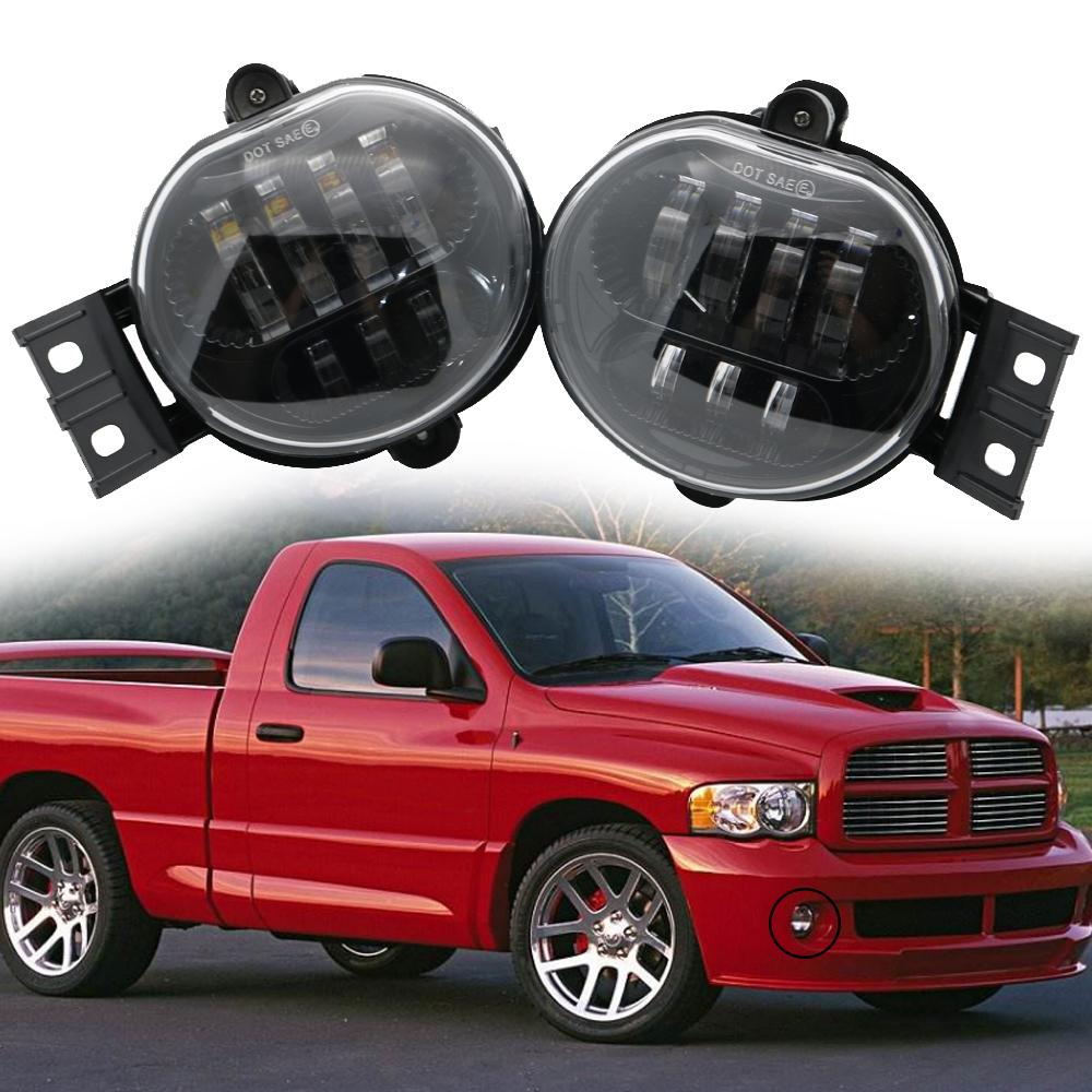 Upgrade 9006 Aksesoris Lampu Kabut LED untuk Dodge Ram 1500 2500 3500 / untuk Dodge Durango Parts untuk Dodge Ram 1500 Lampu Kabut