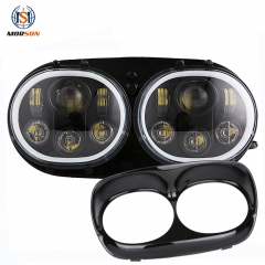 for Harleys-Davidsons Road Glide 5.75 5 3/4 Inch led headlight 12V 24V headlamp with halo angel eyes