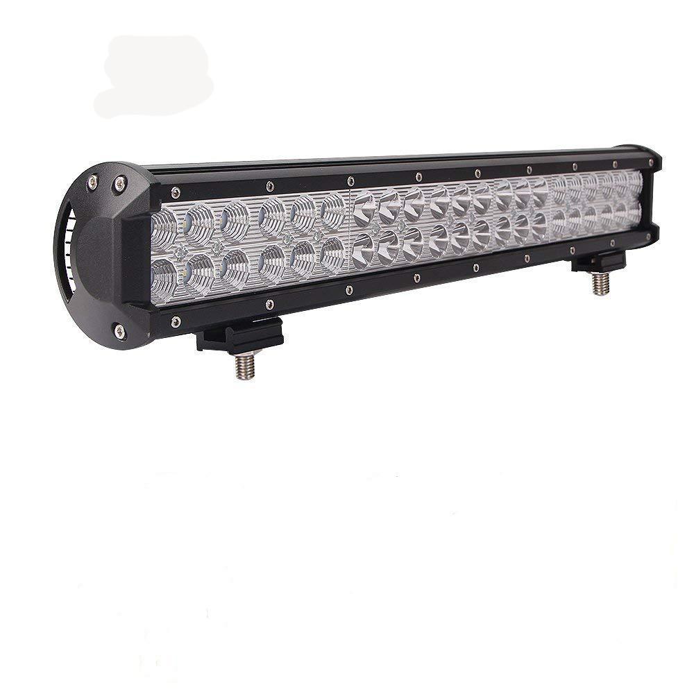 Bar lampu led baris ganda 126W bekerja dengan led bar