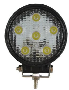 Lampu kerja LED 18W aksesoris lampu truk bulat