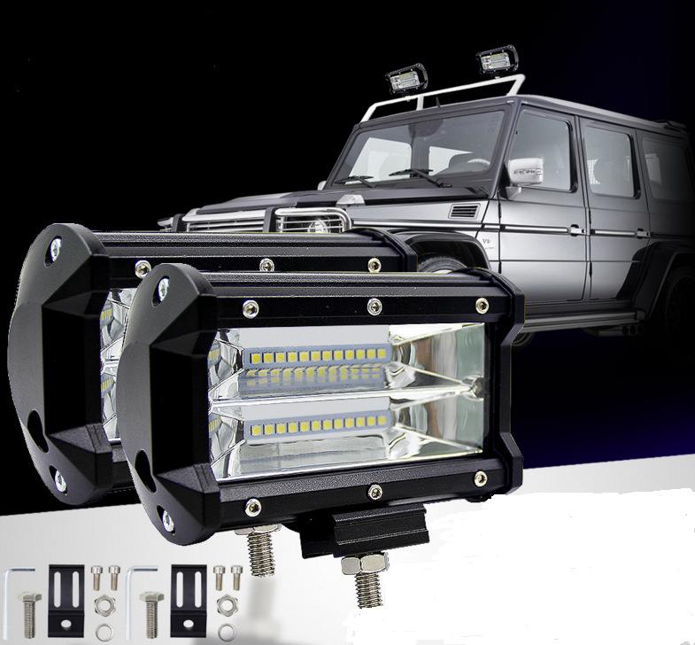 3 baris led light bar 72W spot lighting bar light untuk offroad 4x4