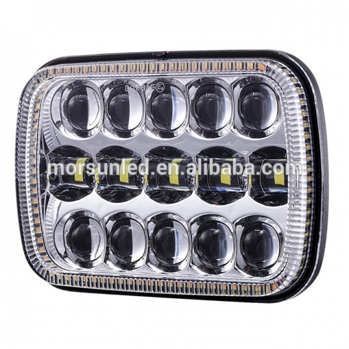 5x7 inch led headlight for GMC/Chevrolet headlamp with halo for jeep cherokee xj parts led lights