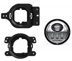 Untuk wrangler jl fog light kit 4 '' led passing fog lamp untuk jeep jl 2018 2019