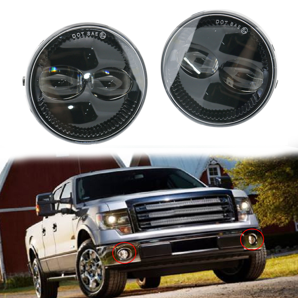 fog f150 lights ford led 2009 2008 morimoto 2007 driving round expedition ranger inch lamps bumper lamp trucks 48w assembly