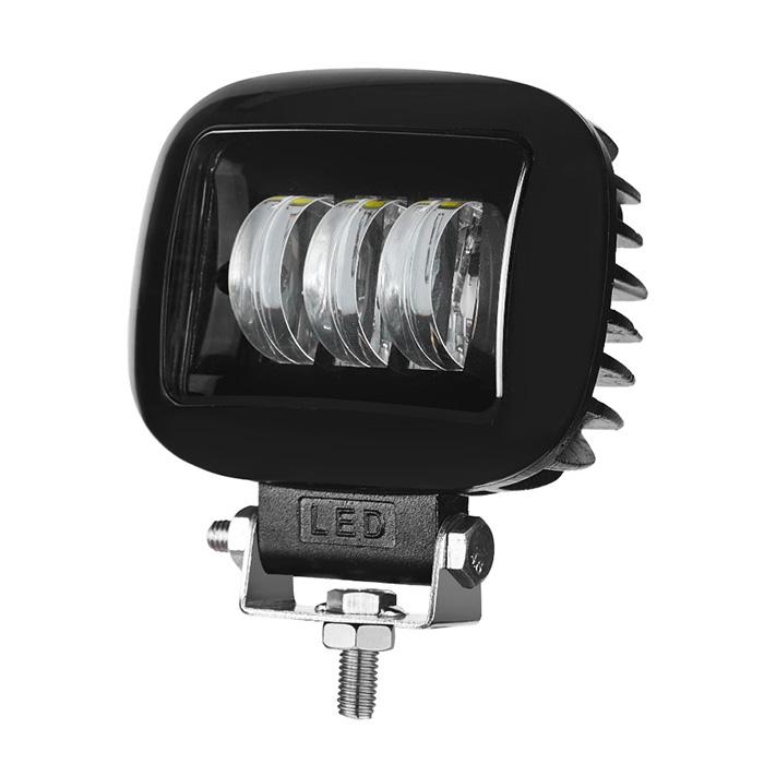 LAMPE DE TRAVAIL À LED CARRÉE 45W LAMPE DE TRAVAIL À LED NOIRE / ROUGE Pour Jeep SUV tout-terrain