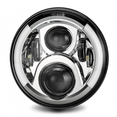 For Jeep Wrangler JK CJ TJ Headlight with Yellow Turning Signal Two Style Optional 7