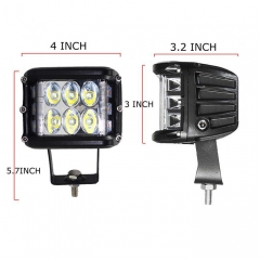 Square 60W CREE CHIP LED WORK LGIHTS UNTUK SUV 4WD Offroad