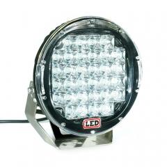 9 pouces LED OffRoad feux de travail 96W rond noir / rouge LED lumière de travail Offroad pour pare-chocs 4WD