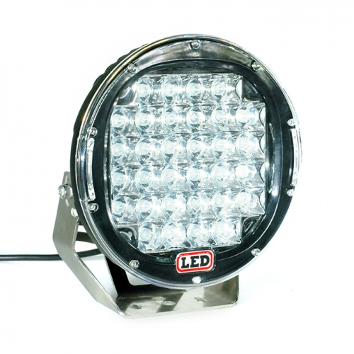 9Inches LED OffRoad Work Lights 96W Black / Red Round LED Offroad Work Light Untuk Bumper 4WD