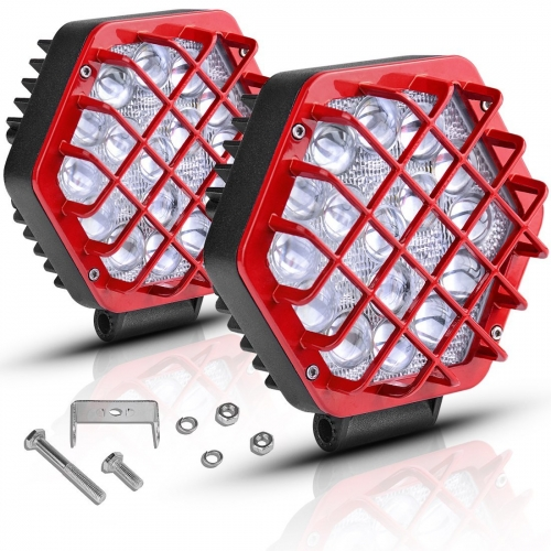 16LEDs 4 Inches LED Working Light Lampu Kerja Mengemudi Mobil