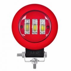 Lampu Mengemudi LED Bulat Hitam / Merah 45W 12 Volt Lampu Kerja LED Untuk SUV Truk Mobil Offroad
