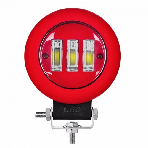 Black/Red 45W Round LED Driving Lights 12 Volts LED Work Lights For Offroad Car Truck SUV