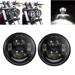 4.65 inch Black Motorcycle LED Headlamp for Harley Fat Bob FXDF 08-15