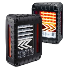Untuk Jeep Wrangler JK 07-17 Lampu Ekor Belakang LED Lampu Belakang Rem Reversing Turn Signal Tail Lamp