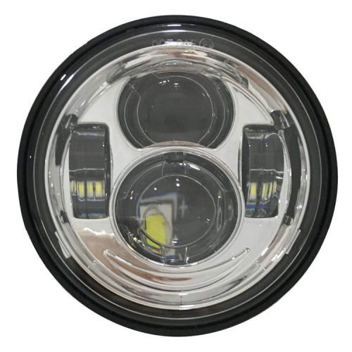 "4.65 ""Chrome Black 40W LED Headlight untuk Harley Dyna Fat Bob FXDF 2008-2016"
