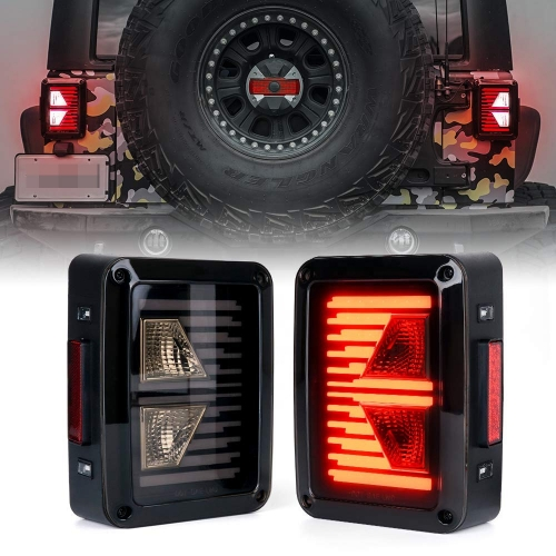 Arrow shape led reversing lamp smoked lens tail light for jeep jk 2007-2015 taillight